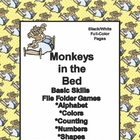 Monkeys In the Bed Basic Skill File Folder Games