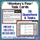 """Monkey's Paw""  by W.W. Jacobs Task Cards"
