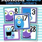 Monster Blues Calendar Numbers