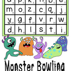 Monster Bowling:  a game to use when working on writing practice