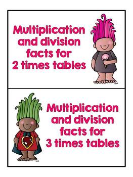 Monster Fact Families - Focus on Multiplication and Division