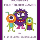 Monster File Folder Games