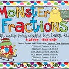 Monster Fractions: Four Fraction Math Centers for Bigger K