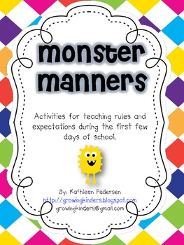 Monster Fun! Teaching Manners and Expectations