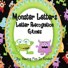 Monster Letters - Monster Themed Letter Matching Activities