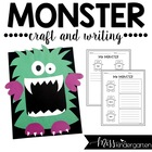 Monster Madness- Craft and Writing Templates