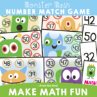 Monster Mash - Math Print and Play Center Game