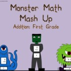 Monster Math Card Game for Addition