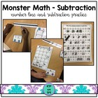 Monster Math Center: Simple Subtraction