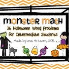 Monster Math - Halloween Word Problems