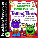 Telling Time - Monster Math Mix-up Game (2nd and 3rd grade CCSS)