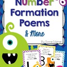 Monster Math Number Formation Poems and Activities