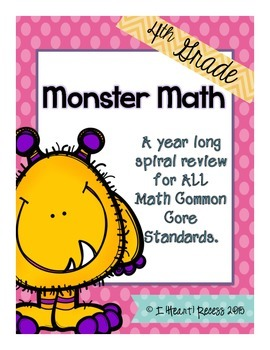 4th Grade Common Core Spiral Math Review {Year Long}