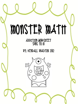 Monster Math - Sums to 10
