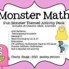 MATH: Monster Themed Addition, Subtraction, Decomposing and More