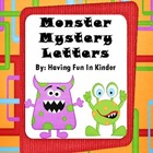 Monster Mystery Lettery - A Letter Recogntion & Alphabetic