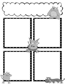 Monster Newsletter Templates to Accompany Monster Binder Set