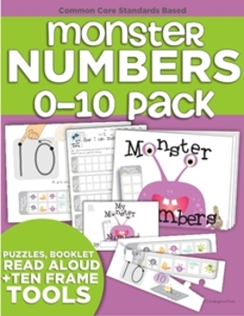Monster Numbers Audio Book, Puzzles and Mini-Book