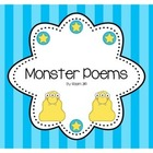 Monster Poems (Paper &amp; Instructions) Poetry Intro, Adjectives