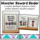 Monster Reward Binder (Positive Behavior Incentive Program)