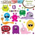 Monster Set: Clip Art Graphics for Teachers