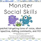 Monster Social Skills Packet