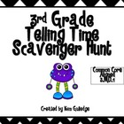 Monster Telling Time 3rd Grade Scavenger Hunt - Common Cor