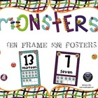 Monster Ten Frame Mini Posters