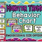 Monster Theme Behavior Clip Chart ~ 2 Design Choices