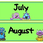Monster Theme Calendar Months