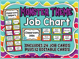 Monster Theme Classroom Helpers Clip Chart