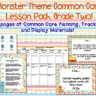 Monster Theme Grade Two Common Core Lesson Planning Pack