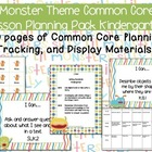 Monster Theme Kindergarten Common Core Lesson Planning Pack