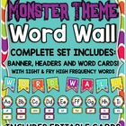 Monster Theme Word Wall ~ Complete Set