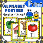 Monster Themed Alphabet Posters