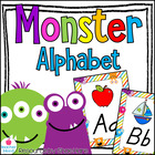 Monster Themed Alphabet Posters DNealian Font