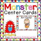 Monster Themed Pocket Chart  Center Cards