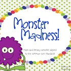 Monsters: Math and Literacy Activities {Common Core}