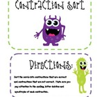Monsters Themed Contractions Sort