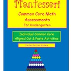 Montessori Common Core Kindergarten Math Assessments