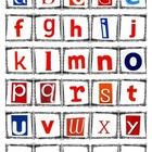 Montessori Moveable Alphabet Tiles, Magazine Letters, Lowe