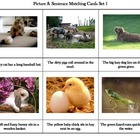 Montessori Picture & Sentence Matching Cards Set 1