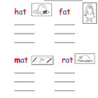 Montessori Pink Scheme Phonics CVC words writing worksheets