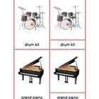 Montessori Three Part Cards - Musical Instruments
