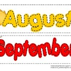 Month-to-Month Classroom Calendar