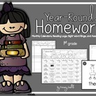 Monthly 1st Grade Homework Calendar {November and December}