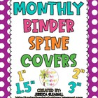 Monthly Binder Spine Labels