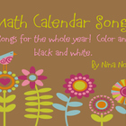 Monthly Calendar Songs for Calendar Binder