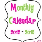 Monthly Calendar for Planning Binder