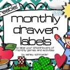 Monthly Drawer Labels *FREEBIE*